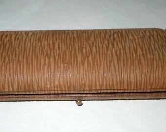 Antique Leather and Velvet Double Fountain Pen case Box