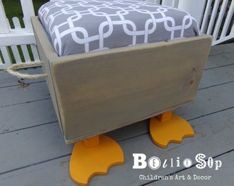 Children's Toy Box/Ottoman/Seat with Feet