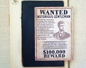 Will you be my Groomsman cards. Wanted groomsman card. Best man notecard. Old wanted ad. GC494