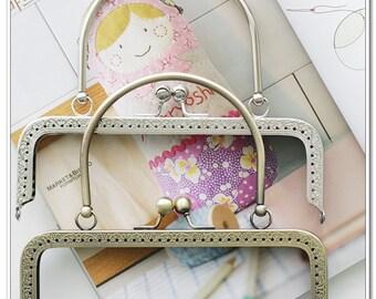 18cm  nickel sewing  purse frame bag frame with metal purse handle