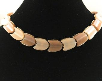 Lisner Lucite Necklace, Vintage Jewelry, Lisner Jewelry, Lisner Necklace, Vintage Choker Necklace, Moonglow Lucite, Mid Century choker