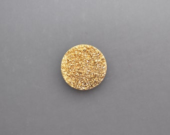24 Karat Gold Drusy Pair