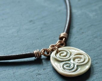 Unisex Irish Necklace Triskele Necklace Irish Jewelry Celtic Jewelry Viking Necklace
