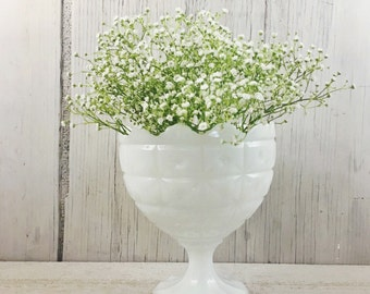 Milk Glass Footed Bowl-Footed Compote Dish
