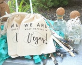 We ARE what happens in LAS VEGAS - Personalized Favor Bags - Bachelorette Party - Wedding Party - Set of 10