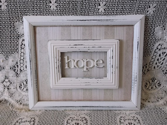 Hope Assemblage Wall Decor Distressed Wall Art Home Decor