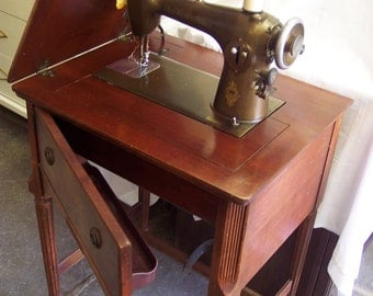 Sewing Machine Cabinet Etsy