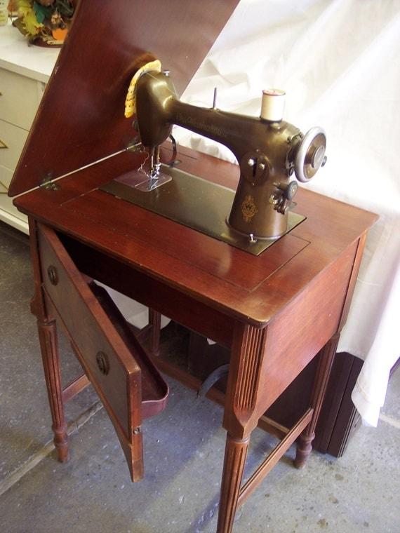 Vintage Free Westinghouse Sewing Machine in Original Wood