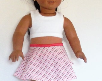 Valentine Outfit Made to fit American Girl Doll Clothes 18""