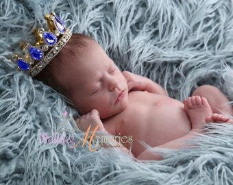 Newborn princess crown , Newborn Crown baby boy crown , baby girl crown , photo prop crown ,
