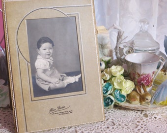 Antique Cabinet Photograph-Sweet Baby Boy