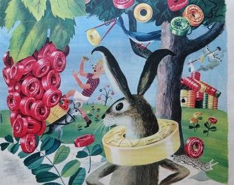 Vintage Magazine Ad 1945-Paper-Ephemera-Ads-Life Savers-Bunny