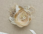 Wedding Hair flower Wedding hair piece Bridal hair piece Gold Rose Gold Champagne Hair Flowers Hair accessories wedding hair flowers