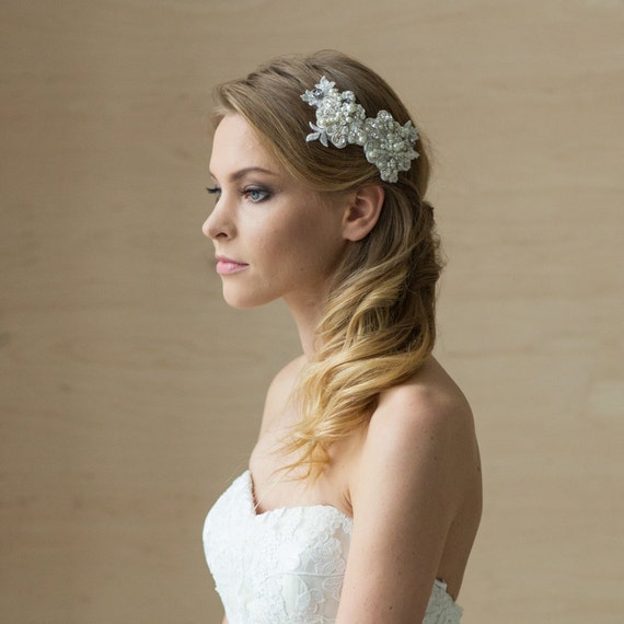 Items Similar To Bridal Hair Piece Bridal Hair Accessories Wedding Hair Piece Wedding Hair ...