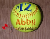 Custom Embroidered Softball Gift Player