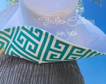 Custom Sun Hat Vacation Sunhat  by  Freckles California