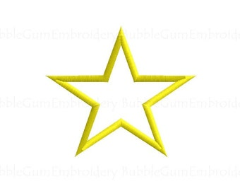 Star Applique Embroidery Design Instant Download