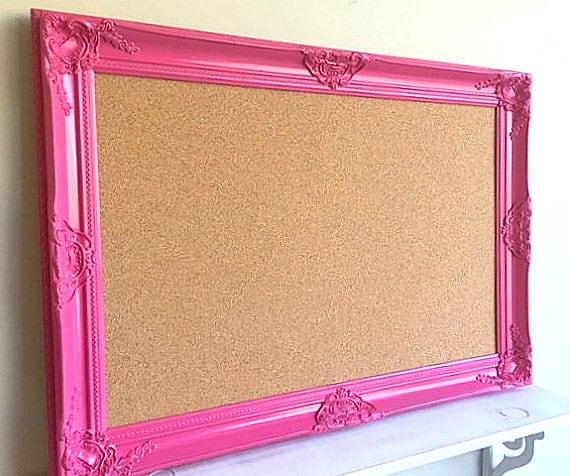 Bulletin Board Girls Room Pink Cork Board Framed Pinboard