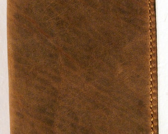 Rust Brown Bison Leather Wallet