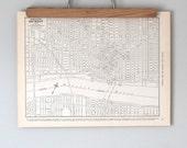 Detroit, Michigan 1930s Antique City Map