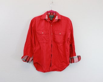 Vintage Ralph Lauren Country Red Button Down Shirt
