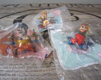 Vintage 80s McDonald's Happy Meal Toys Tale Spin Kit, Molly, Baloo