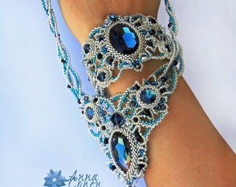 Blue Montana lace bracelet FREE SHIPPING