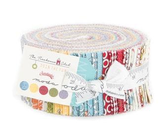 Moda Fabric, Cotton Fabric, Tree house Jelly Roll, Quilt Fabric, Blue Fabric, Red Fabric, Green Fabric Jelly Roll