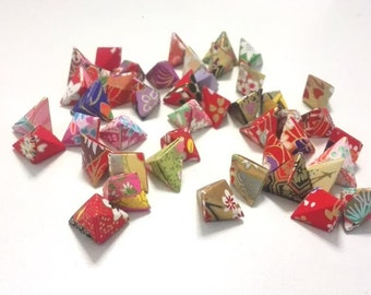 50 Beautiful Washi Chiyogami Korean Origami Lucky Stars a.k.a. Origami Crane Eggs