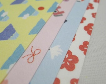 Modern Pattern Print Washi Chiyogami Paper Pack for Japanese Origami Paper Project- 20 sheets (4 designs)