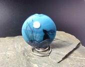 Lampwork Glass Focal Bead - handmade - Moon Gazing Hare