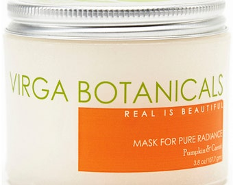 Pumpkin Carrot Mask for Pure Radiance - Supernourishing, Exfoliating, Tightening  - 4.5oz.