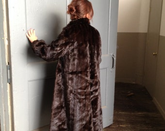 80s Full Length Mahogany Mink by Weiss Furs Like New