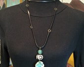 Antler Button Leather Necklace