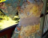 RESERVED  // dreamtime bohemian tunic dress, alternative long top, hippy mini, festival, beach,