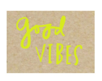 Good Vibes - set of 8 boxed notecards