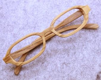 TAKEMOTO  olive wood  MJX1604 handmade prescription sunglasses very small  eyeglasses