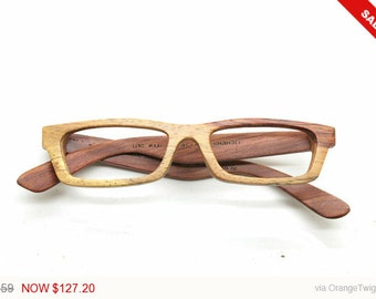 Christmas sale 20%Off Only one LOVE-WOOD two tone red rosewood custom prescription RX glassses