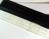 "Vintage ""Logarex 27403-II"" Darmstadt slide rule in Case"