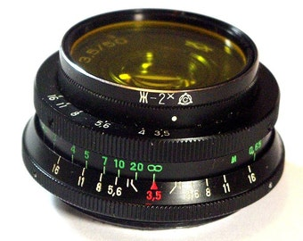 Made in USSR! Industar-50 (Pancake) 3,5/50 Pentax Zenit M42 Lens with Filter!