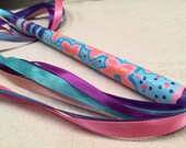 Wand for pretend  play / best girl gift / princess wand / fairy play / pink / purple / blue / one of a kind