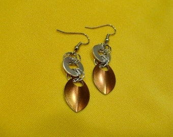 Goddess silver and copper stainless steel earrings (Style #400)