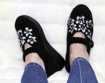 Crochet shoes - Slipper Shoes - Outdoor Shoes - Mary Jane Shoes - Bling Shoes - Wedge Shoes - Swarovski shoes - Floral Shoes - Platform Shoe