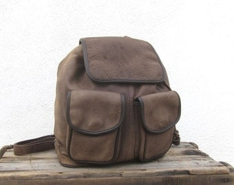 15% Off Out Of Town SALE Leather Rucksack Backpack Distressed Brown Daypack