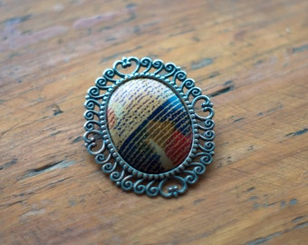 Multi Colored and Silver Plated Broach