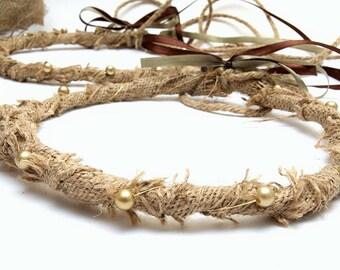 STEFANA Wedding Crowns - Orthodox Stefana - Bridal Crowns DIMITRA ivory - One Pair