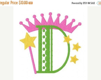 SALE INSTANT DOWNLOAD Dainty Princess Monogram Embroidery Font Design Set