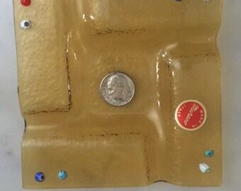 Vintage murano ash tray with Millefiore design
