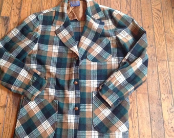 Vintage Pendelton Virgin Wool Blazer Sports Jacket Sz M