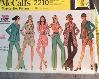 Vintage McCall's Sewing Pattern 2210 Misses' Size 14 Coordinates